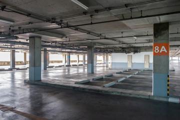 Big car park interior