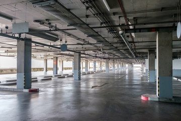 Big car park interior