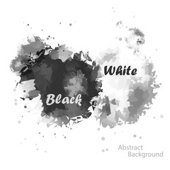 Abstract Two tone Black and White color of watercolor background for illustrator graphic vector design