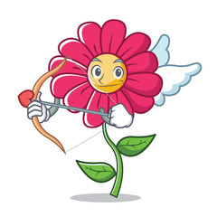 Cupid pink flower character cartoon