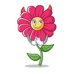 Devil pink flower character cartoon