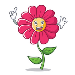 Finger pink flower character cartoon