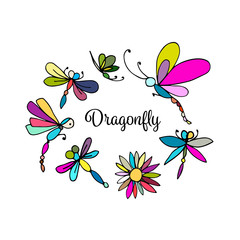 Dragonfly, sketch for your design