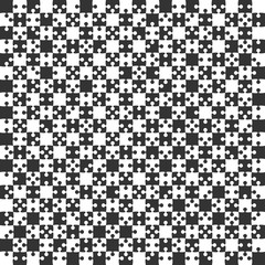 Black Puzzle Pieces JigSaw - Vector - Field Chess