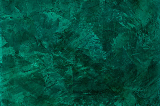 background of stucco textures with effect of marble malachite color. artistic background handmade