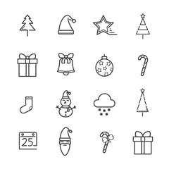 Christmas line icon concept. Editable Stroke. vector illustration.