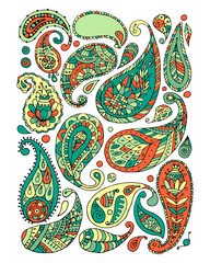 Paisley ornament set, sketch for your design