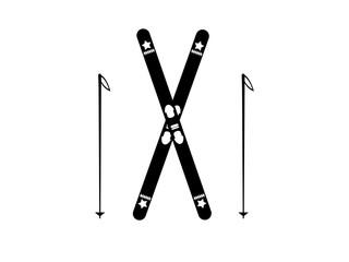 Ski and sticks