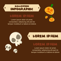 Halloween Infographic design various collection