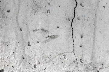 Wall Mural - Cracks in gray concrete wall