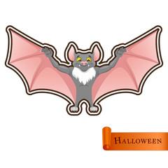 Cartoon funny Bat character