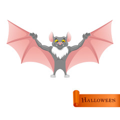 Cartoon funny Bat character