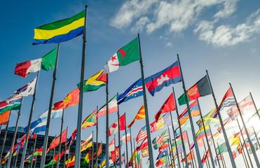 Internationale Fahnen