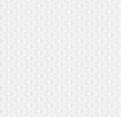 White seamless geometric pattern, ribbed surface with rings, use as a background or texture, the 3D effect vector.