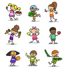 Viele Kinder halten Obst und Gemüse