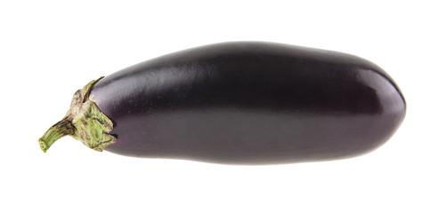eggplant isolated on white background closeup
