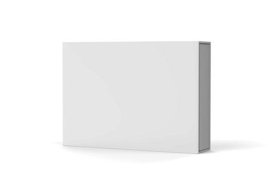 Sliding Box Gift Set, Mock Up Template On Isolated White Background, Ready For Your Design Presentation, 3D Illustration