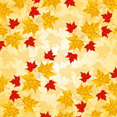 Maple leaves in triangular style. Vector illustration. Eps 10