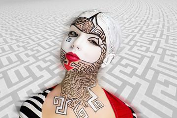 Art make up maze puzzle