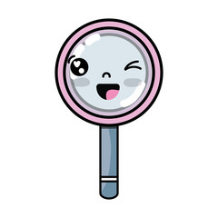 kawaii cute funny magnifying glass