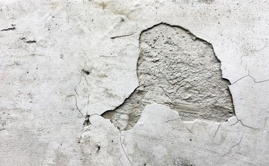 Pattern and texture. Broken and rough cement wall texture. Abstract art and background concept.