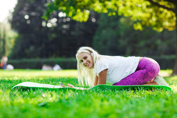 Image of athletic girl engaged in fitness