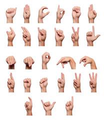 Alphabet language of the deaf