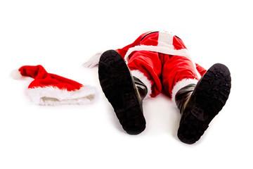 Weihnachtsmann mit Burnout – platt