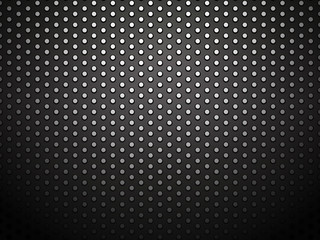 black perforated meteal steel background