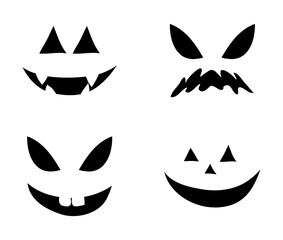 jack o lantern smile silhouette vector symbol icon design. Beautiful illustration isolated on white background