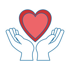 hands human protection with heart