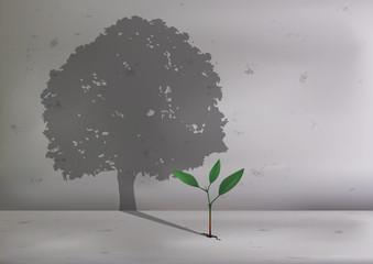 arbre - pousse - concept - écologie - plante - écologique - croissance