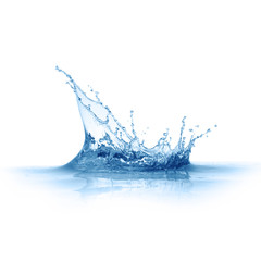 blue water splashes isolated