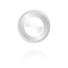 CD - Silber Münze mit Reflektion