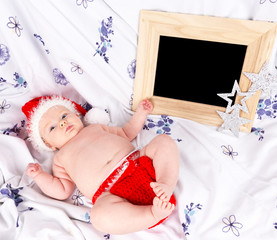 Baby as Santa Claus, Christmas