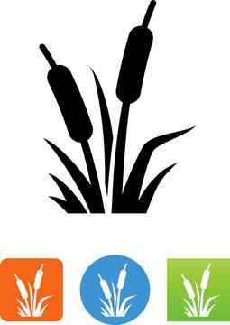 Cattail Wetland Plants Icon