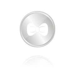 Fliege - Silber Münze mit Reflektion