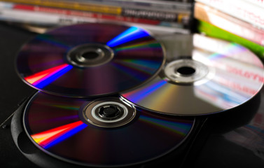 DVD discs and cases