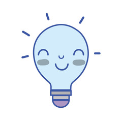 kawaii cute happy bulb idea