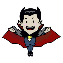 sg171004-Halloween Vampire cartoon - Vector Illustration