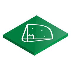 Icon playground baseball in isometric, vector illustration.
