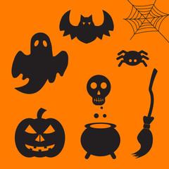 Set of halloween element