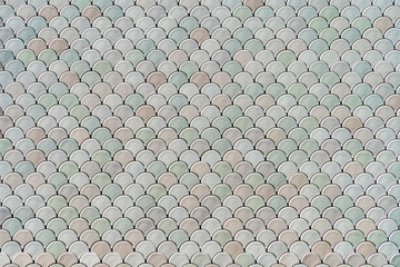 Architectural Mesh Detail With Fish Scales Texture Bump