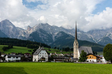 Austrian village in Alps