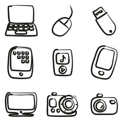 Technology Icons Freehand
