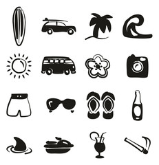 Surfing Icons Freehand Fill
