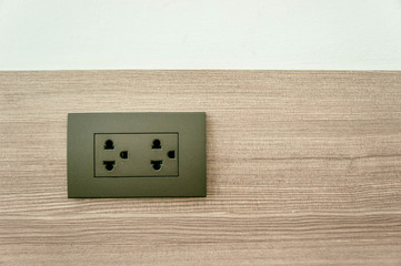 outlet switch on wall in home ,Equipment that connects electrical signals to various home appliances.