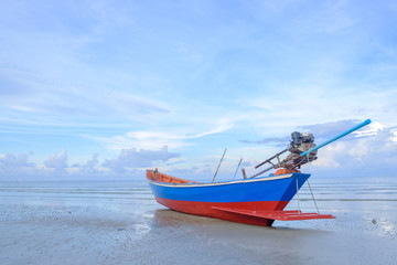 Fishing boat parked.
