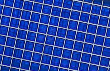 Blaue Glasbausteine