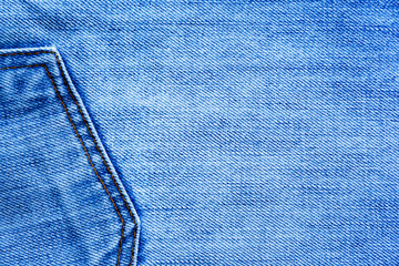 The image of textures with pockets of blue denim fabrics for the background, patterns and creativity.